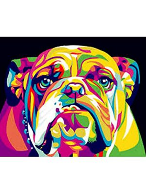 5D Diamond Painting Embroidery Rainbow Dog Painting Cross Stitch Kit Home Room Decor