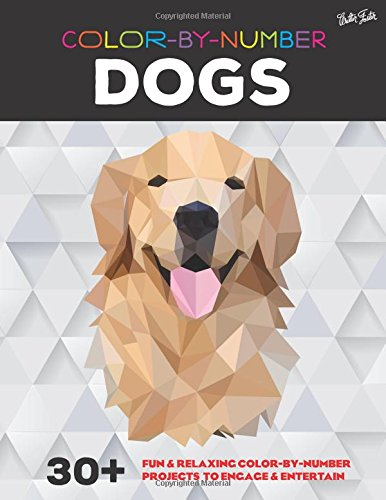 Colour By Numbers, 30+ Dogs. Great fun & relaxing colouring by numbers project for kids and adults