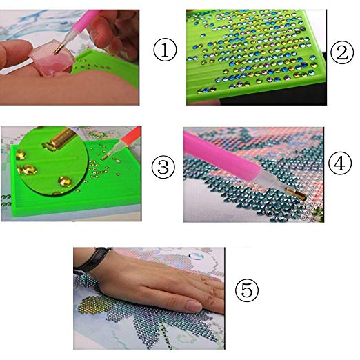 DIY 5D Diamond Painting Embroidery Cross Stitch Art Craft For Home Room Decor