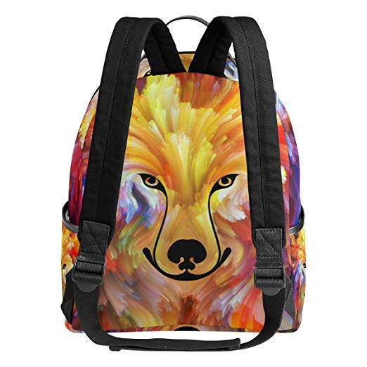 Colourful Dog Painting Backpack for Boys and Girls School Bag
