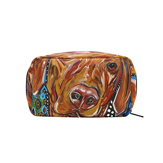 COOSUN Dog Painting Cosmetic Pouch Clutch Makeup Bag, Travel Organizer and Case Toiletry Pouch for Women