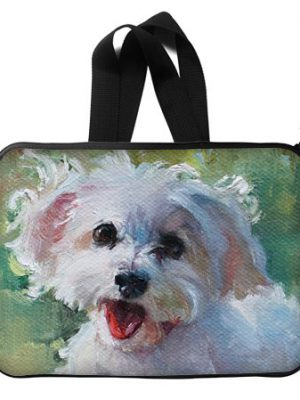 "Colourful Waterproof Custom Dog Painting Laptop Sleeve Bag Suitable for all Computers up to 13"" with Twin Sides"
