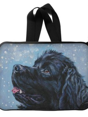 Custom Waterproof Laptop Sleeve Bag with a Dog Painting Suitable for all Laptop Computers up to 13""