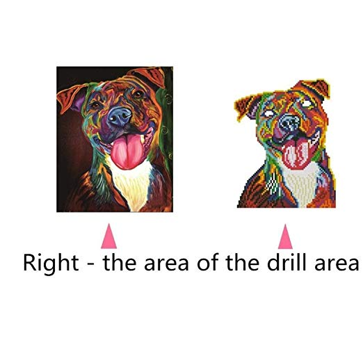 Multicolor 5D Diamond Puppy Painting Embroidery Cross Stitch Kit Mosaic for Kids Children, 25 x 30cm