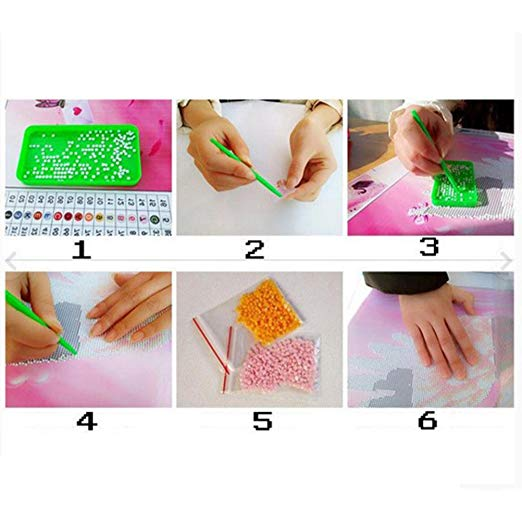 5D Diamond Dog Painting Kit, DIY Diamond Embroidery Cross Stitch Wall Decoration Craft Kits