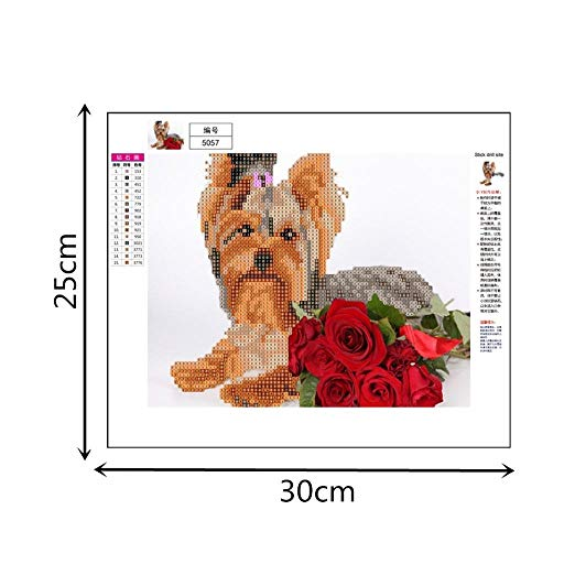 Dog 5D Diamond Painting Embroidery DIY Paint by Diamond Home Wall Decor Kit