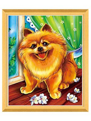 Poodle Dog Painting 5D Round Diamond Painting Cardboard ​Embroidery DIY Craft Kit